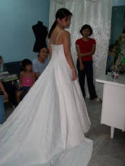 Trina's bridal gown - almost done!!!